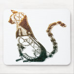 Mousepad del gato de Steampunk