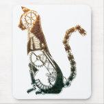 Mousepad del gato de Steampunk Tapetes De Ratones