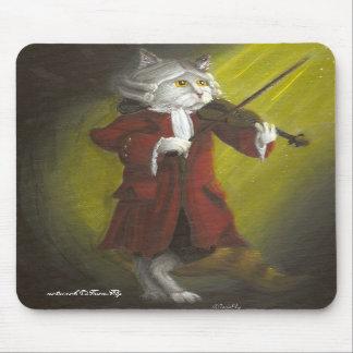 Mousepad del gato del violinista