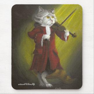 Mousepad del gato del violinista tapete de raton