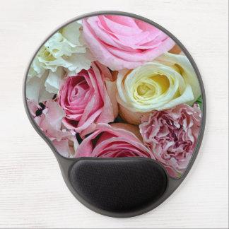 Mousepad del gel de la impresión de los rosas alfombrillas con gel