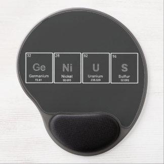 Mousepad del gel del genio de la tabla periódica alfombrilla con gel