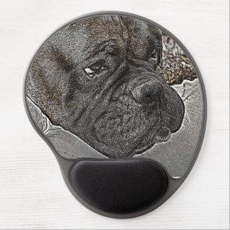 Mousepad del gel del perro del boxeador alfombrillas con gel