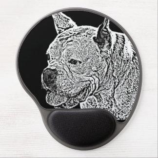 Mousepad del gel del perro del boxeador alfombrillas de raton con gel