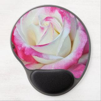 Mousepad del gel del rosa rosado y blanco alfombrilla de raton con gel