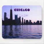 Mousepad del horizonte de Chicago Tapete De Ratón