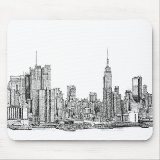 Mousepad del horizonte de Nueva York