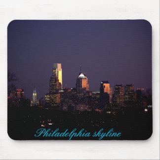 Mousepad del horizonte de Philadelphia