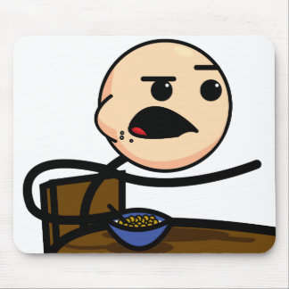 Mousepad del individuo del cereal tapetes de ratón