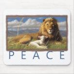 Mousepad del león y del cordero de la paz alfombrilla de ratones