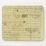 Mousepad del manuscrito de Federico Chopin Alfombrilla De Ratón
