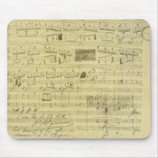 Mousepad del manuscrito de Federico Chopin