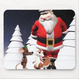 Mousepad del navidad del ratón de Santa