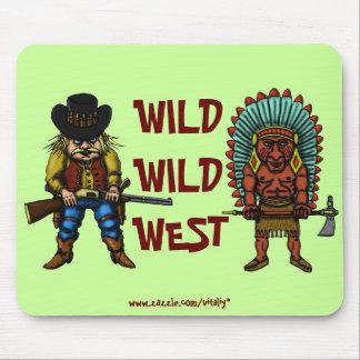 Mousepad del oeste salvaje divertido