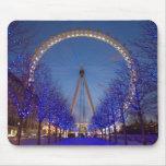 Mousepad del ojo de Londres Alfombrillas De Raton