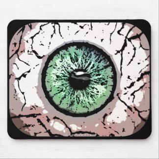 Mousepad del ojo verde alfombrillas de ratones