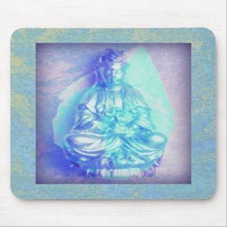 Mousepad del ópalo azul de Kwan Yin Tapetes De Raton