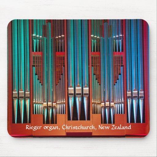 Mousepad del órgano - ayuntamiento, NZ Christchurc Tapetes De Ratones