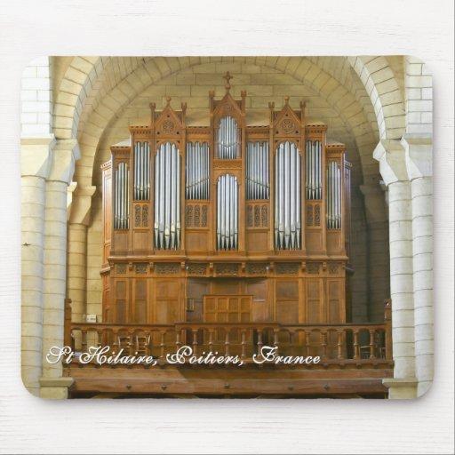 mousepad del órgano de Poitiers