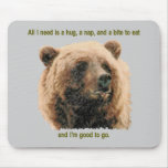 Mousepad del oso de Brown Tapetes De Ratones