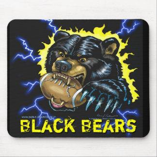 Mousepad del oso negro del fútbol (versión 1) tapete de ratón