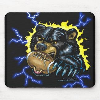 Mousepad del oso negro del fútbol (versión 2) tapete de ratones
