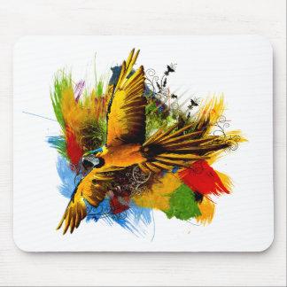 Mousepad del pájaro del Macaw Tapete De Ratón