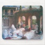 Mousepad del patio de Fountained Tapete De Raton