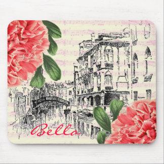 Mousepad del peony de Bella Italia Tapetes De Ratones