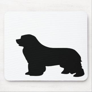 Mousepad del perro de Terranova, silueta negra, re Alfombrilla De Raton