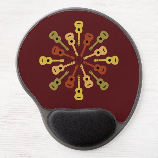 Mousepad del personalizado del Ukulele Alfombrilla De Raton Con Gel