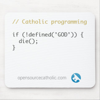 Mousepad del programador católico