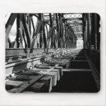 mousepad del puente del ferrocarril tapetes de raton