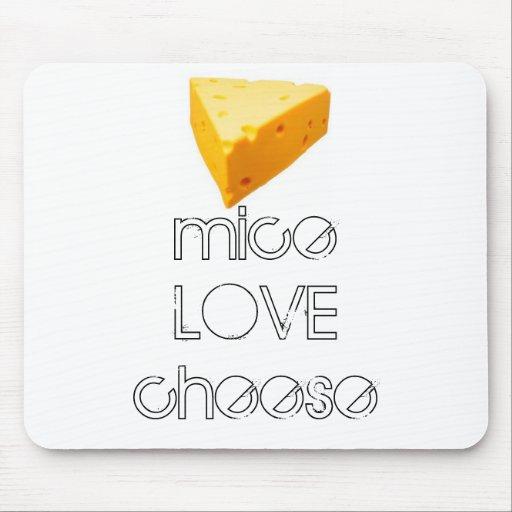 mousepad del queso del AMOR de los ratones Tapete De Ratones