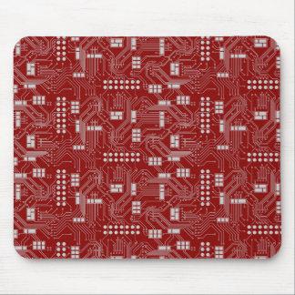 Mousepad del rojo de la placa de circuito