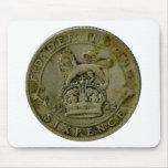 Mousepad del sixpence de 1922 Británicos Alfombrilla De Ratones