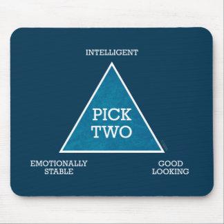 Mousepad del triángulo de la selección dos