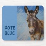 mousepad democrático del azul del burro/del voto tapetes de raton