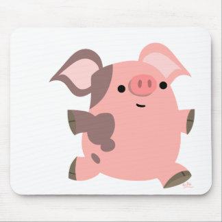Mousepad deportivo del cerdo del dibujo animado alfombrilla de raton