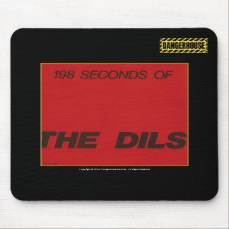 Mousepad Dils 198 Seconds Dangerhouse BLACK