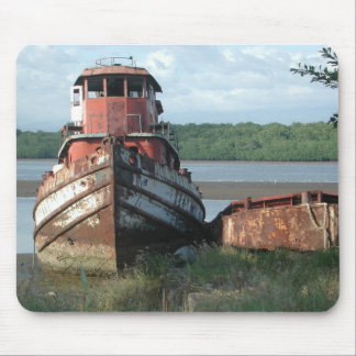Mousepad: Discarded Tugboat Mouse Pad