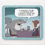 Mousepad divertido: Abogado del tiburón Tapete De Ratón