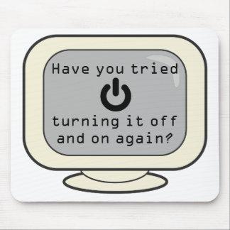 Mousepad divertido con símbolo del poder le tiene