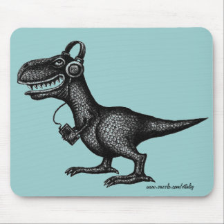 Mousepad divertido del arte del dibujo de la tinta tapete de ratones