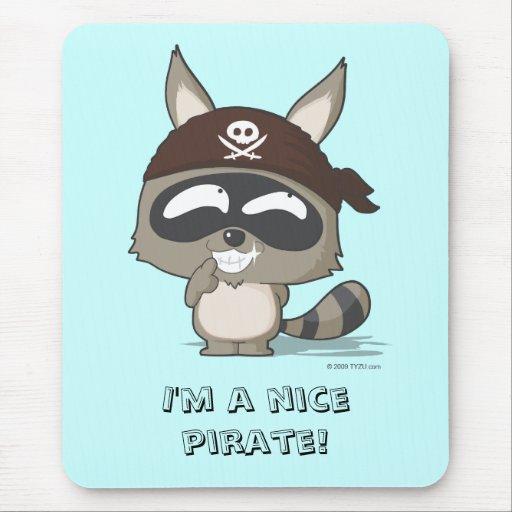 Mousepad divertido del dibujo animado del pirata