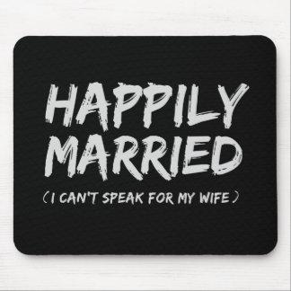 Mousepad divertido feliz casado alfombrillas de raton