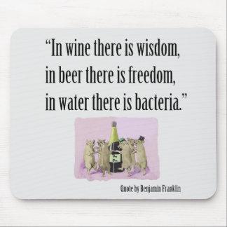 Mousepad divertido - Franklin, vino, cerveza y cer Alfombrillas De Raton