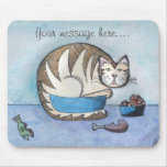 Mousepad divertido personalizado del gato gordo tapete de raton