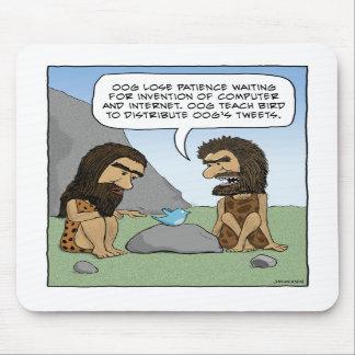 Mousepad divertido: Píos del hombre de las caverna