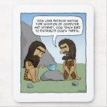 Mousepad divertido: Píos del hombre de las caverna Alfombrilla De Raton